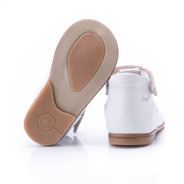 emel beginner ballerine white hearts - little pearls by shoe chou