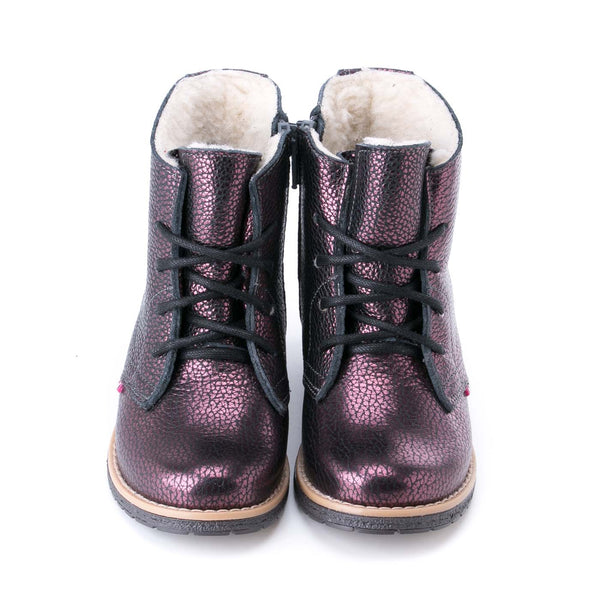 emel winter boot bordeaux glitter