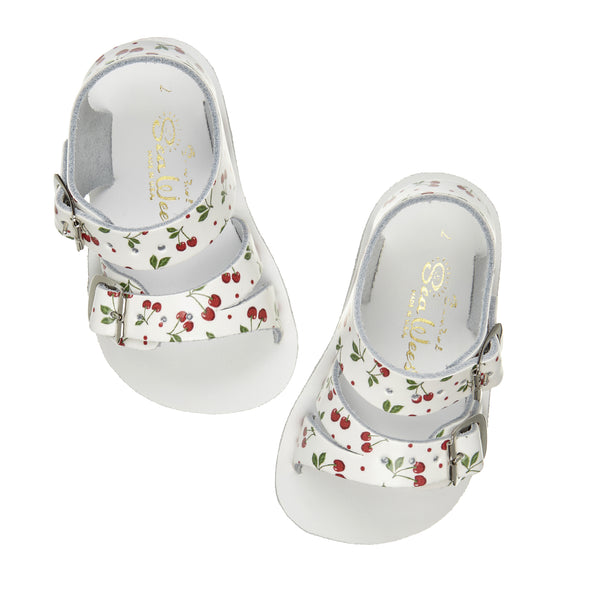 saltwater sandals seawee cherry - little pearls by shoe chou