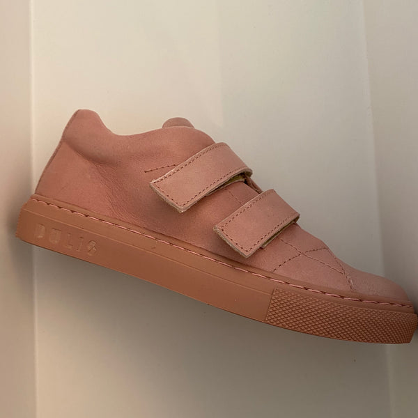 dulis velcro sneaker pale pink - little pearls by shoe chou