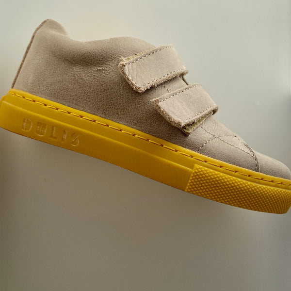 dulis velcro sneaker light grey - little pearls by shoe chou