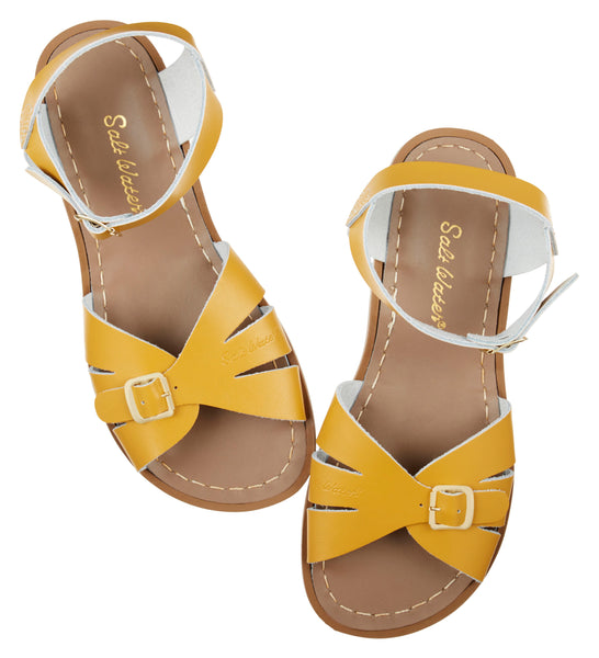 saltwater sandals classic adult mustard - little pearls by shoe chou