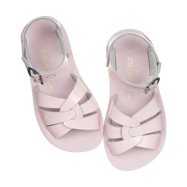 saltwater sandals swimmer shiny pink - little pearls by shoe chou
