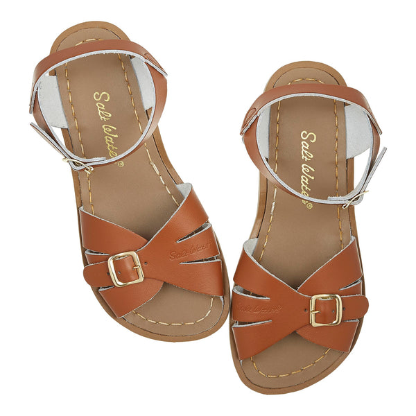 saltwater sandals classic child tan - little pearls by shoe chou