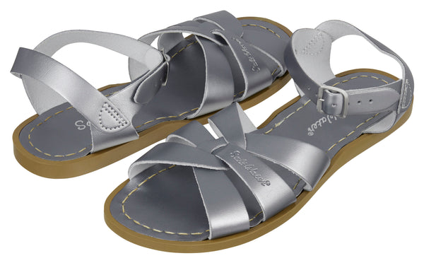 saltwater sandals original adult pewter - little pearls by shoe chou