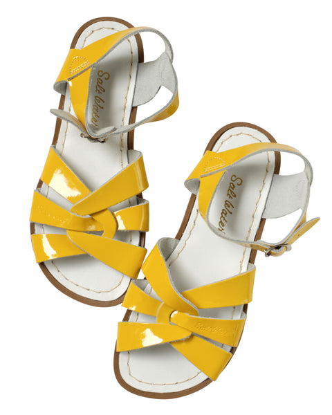 saltwater sandals original adult shiny yellow - little pearls by shoe chou