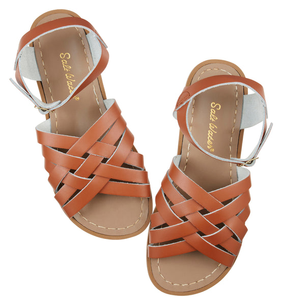saltwater sandals retro adult tan - little pearls by shoe chou