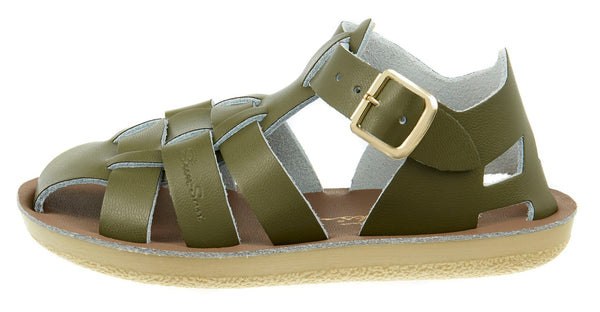 saltwater sandals shark olive - little pearls by shoe chou