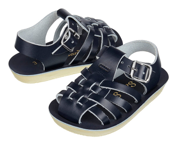 saltwater sandals sailor navy - little pearls by shoe chou
