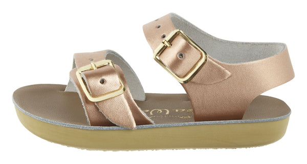 saltwater sandals seawee rose gold - little pearls by shoe chou