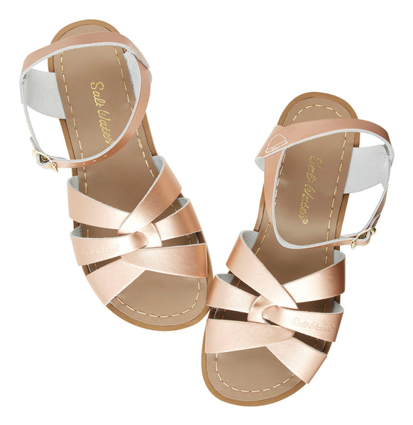 saltwater sandals original child rose gold - little pearls by shoe chou