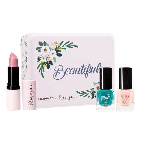 rosajou blush metal box makeup set wonderland