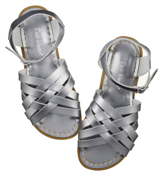 saltwater sandals retro adult pewter - little pearls by shoe chou