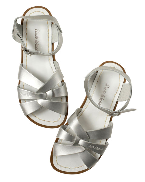 saltwater sandals original adult silver - little pearls by shoe chou