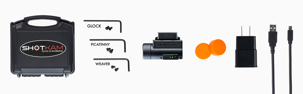 What's Included with the ShotKam Order - 12G Bracket, SD Memory Card, USB Cable, etc.