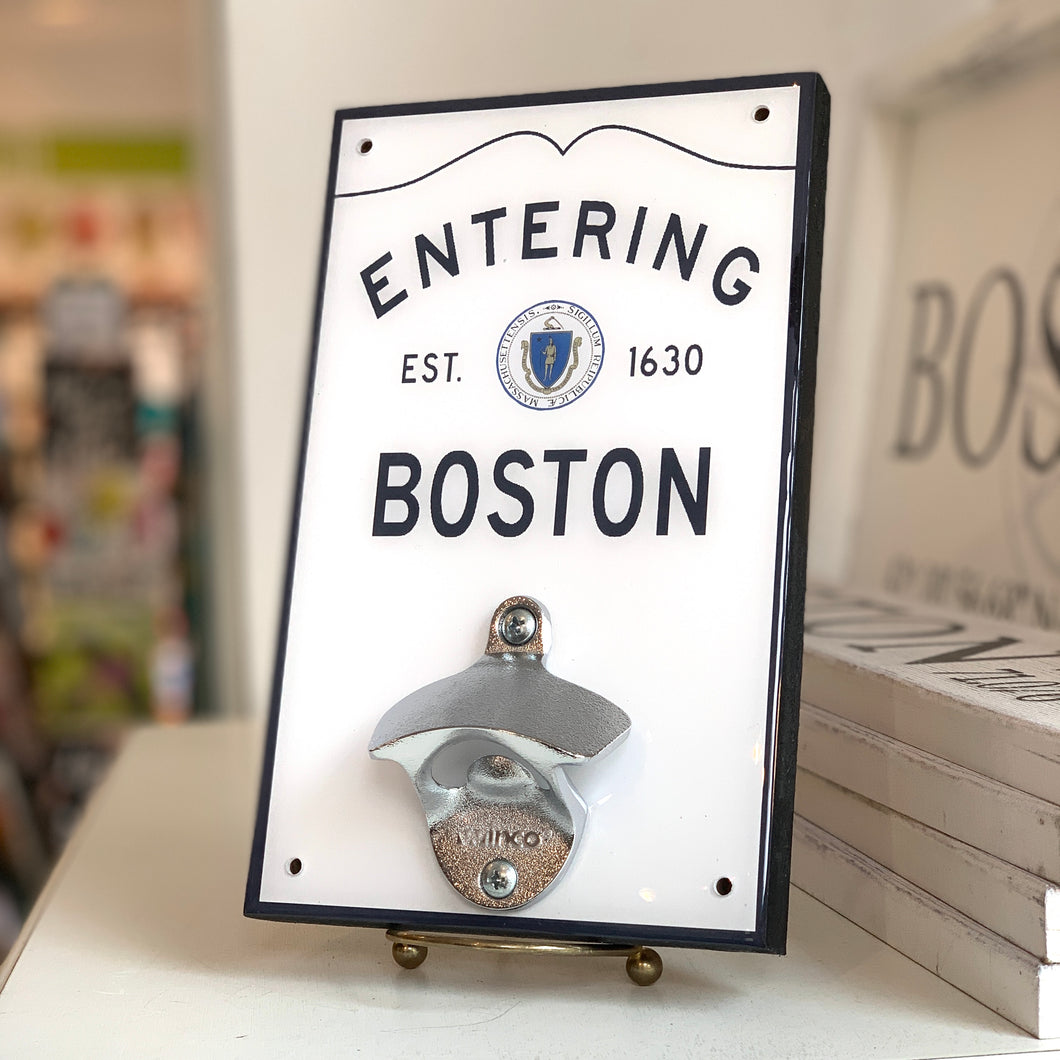 Entering Boston Wall Bottle Opener