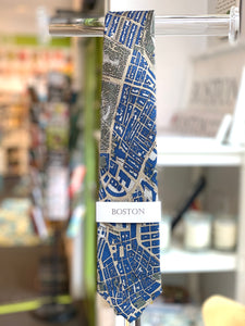 "100% Silk Civitas Tie ""Boston-Navy"""