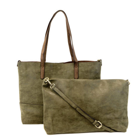 Vegan Brushed 2 in 1 Tote Olive