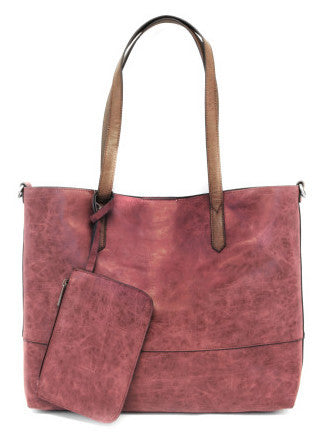 Vegan Brushed 2 in 1 Tote Wine