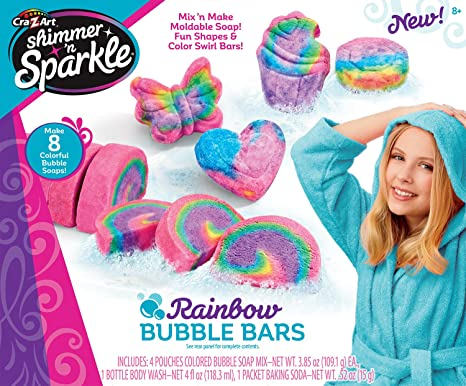 Rainbow Bubble Bars DIY Soap kit