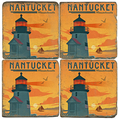 Italian Marble Coasters-Nantucket
