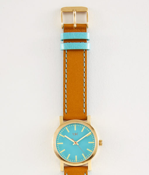 Eden Watch (Teal/Tan)