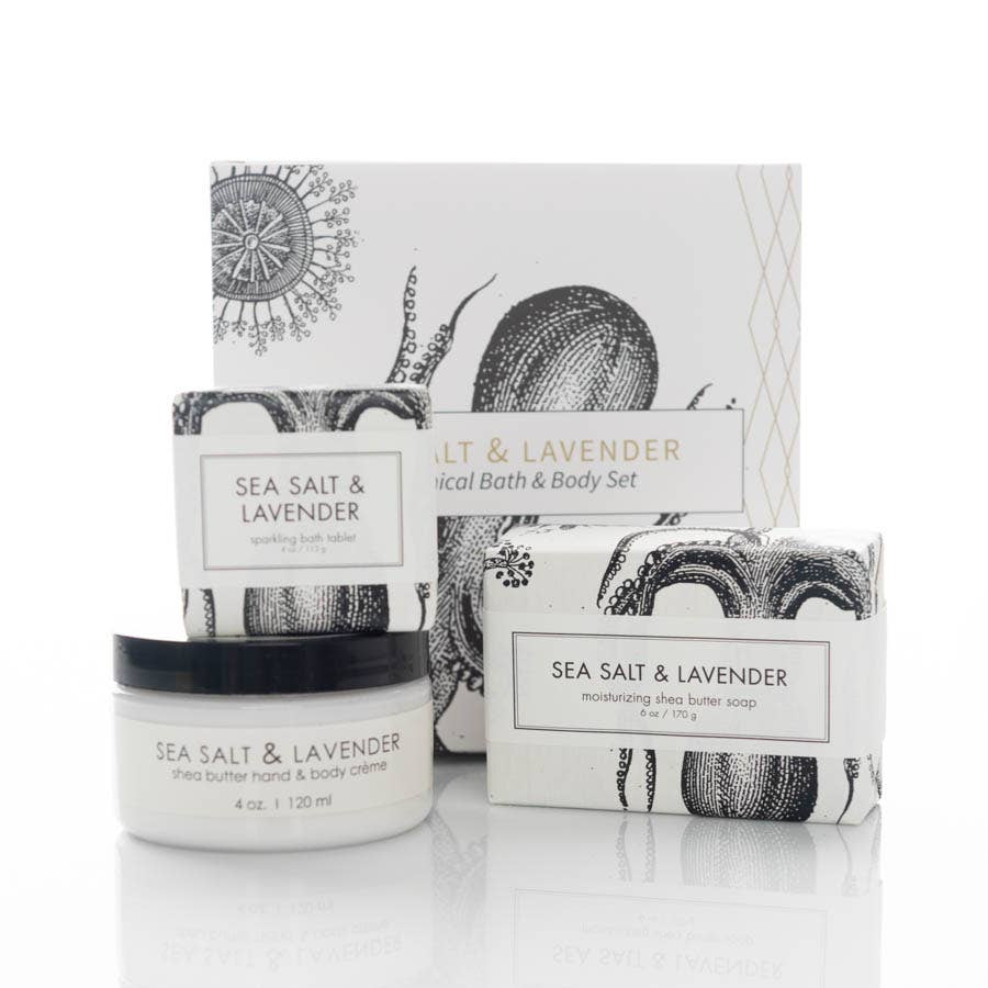Sea Salt & Lavendar Botanical Gift Set