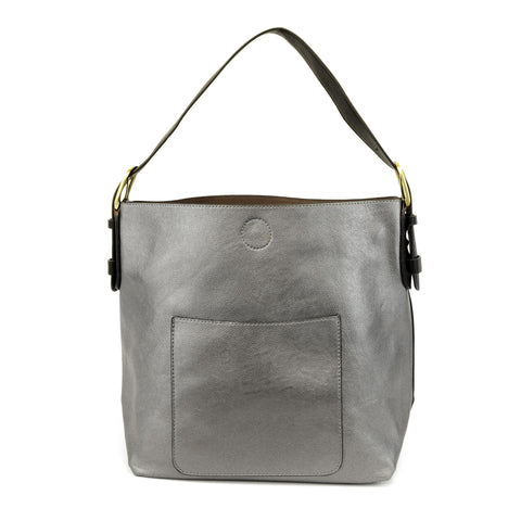 Vegan 2 in 1 Hobo Pewter