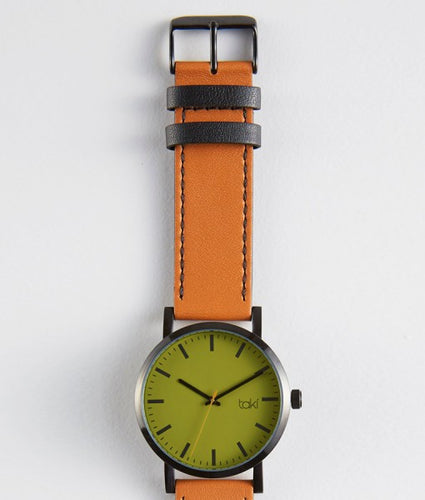 Hugo Watch (Green/Tan)