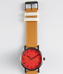 Hugo Watch (Red/Camel)