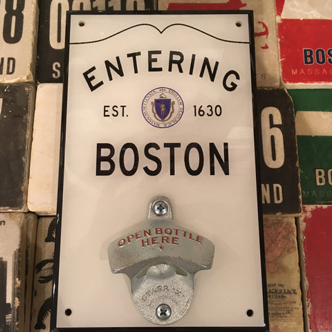 Wall Bottle Opener-Boston