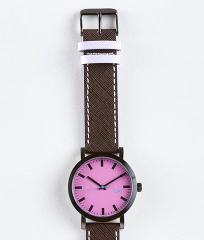 Melrose Watch (Purple/Brown)