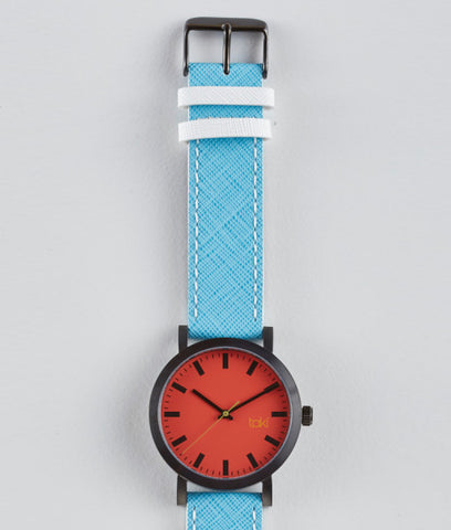 Melrose Watch (Red/Blue)