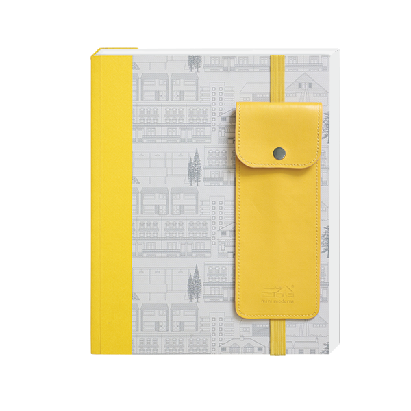 Mini Modern Notebook with Pen Pouch