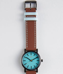 Nicollet Watch (Light Blue/Brown)