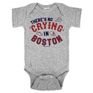 """No Crying in Boston"" Baseball Infant Onesie"