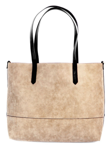 Vegan Brushed 2 in 1 Tote Camel