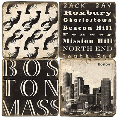 Italian Marble Coasters-Boston