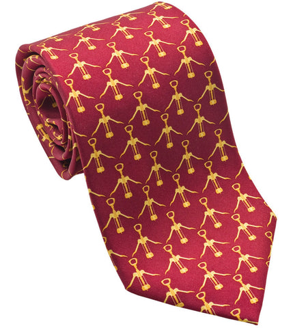 "100% Silk Tie made in NY ""Corkscrews"""