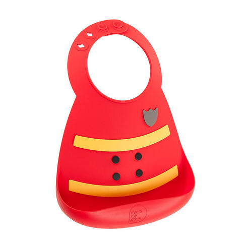 Soft Adjustable Silicone Bib - On Fire