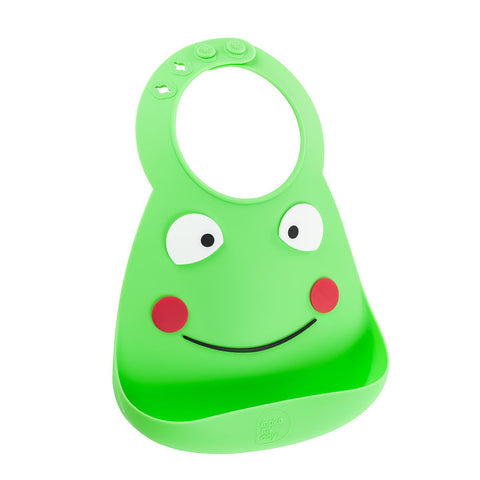 Soft Adjustable Silicone Bib-Frog