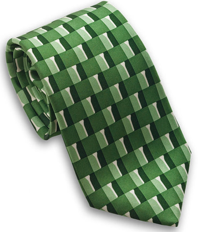 "100% Silk Tie made in NY ""Golf Tees"""