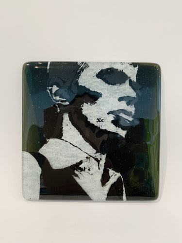 David Bowie Glass Coaster