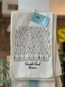 South End Kitchen Towel Dogs