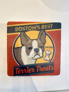 Boston Terrier Marble Coaster