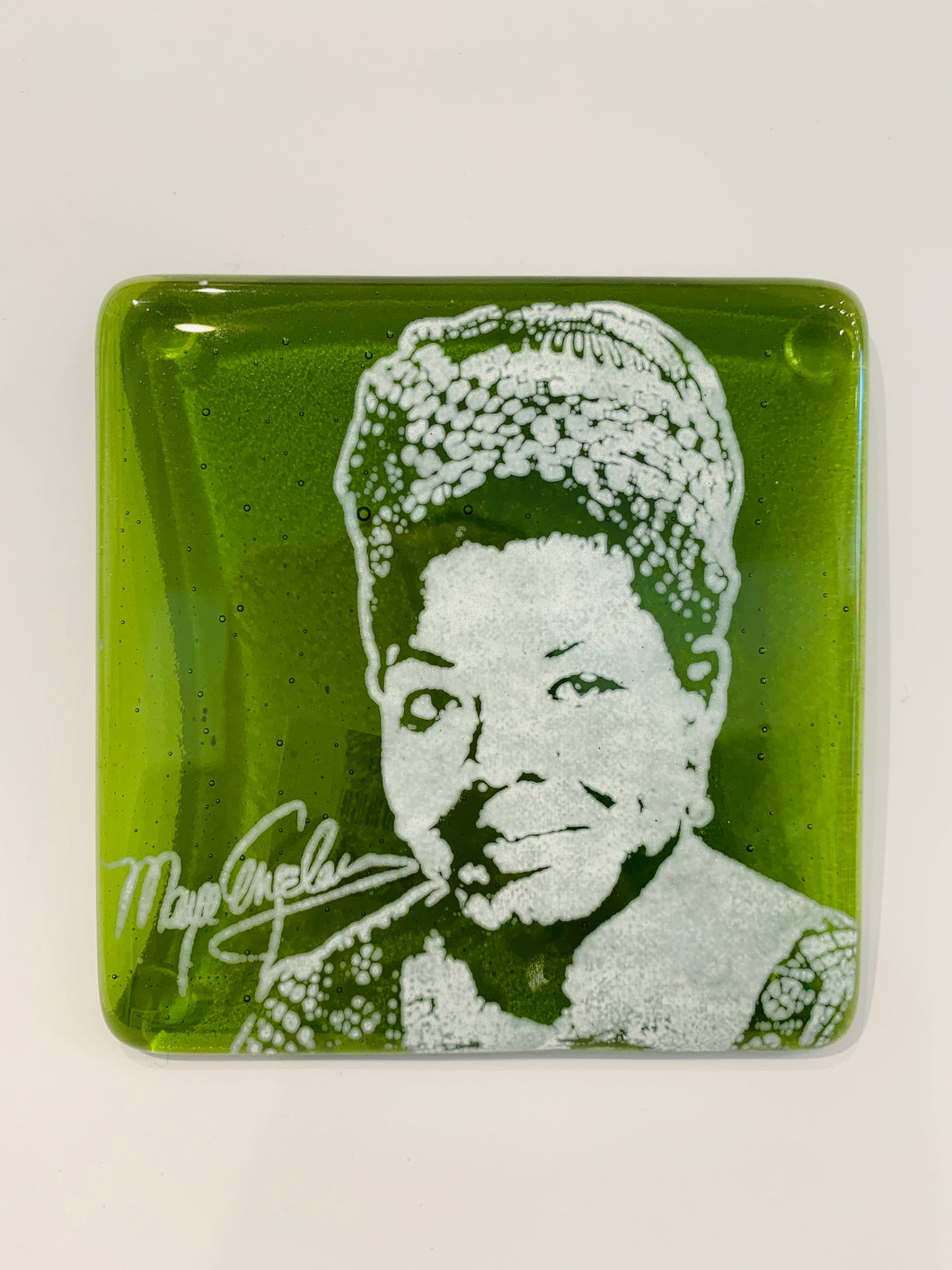 Maya Angelou Glass Coaster