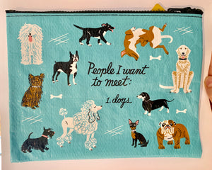 "Blue Q Travel Pouch ""Dogs"""