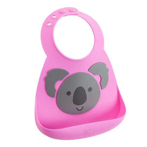 Soft Adjustable Silicone Bib - Bear With Me