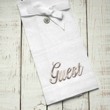 Load image into Gallery viewer, Linen Embroidered Hand Towel