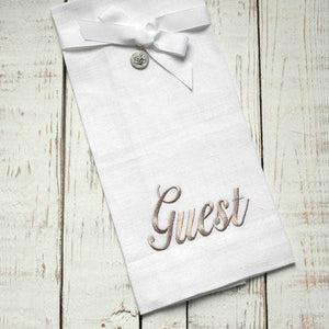 Linen Embroidered Hand Towel